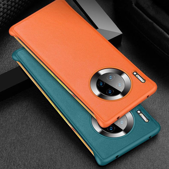 Frameless Solid Color PU Phone Case Back Cover - Huawei Mate 30 Pro/Mate 30 - halloladies