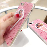 3D Pink Ice Cream Glitter Phone Case Back Cover - iPhone XS Max/XR/XS/X/8 Plus/8/7 Plus/7/6s Plus/6s/6 Plus/6 - halloladies