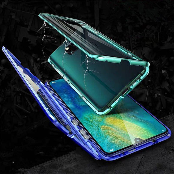 Glass Clear Magnetic Adsorption Tempered Phone Case Back Cover for OnePlus 7 Pro/7/6T/6 - halloladies