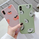 Summer Fruits Avocado Persimmon Soft TPU Phone Case Back Cover - iPhone XS Max/XR/XS/X/8 Plus/8/7 Plus/7/6s Plus/6s/6 Plus/6 - halloladies