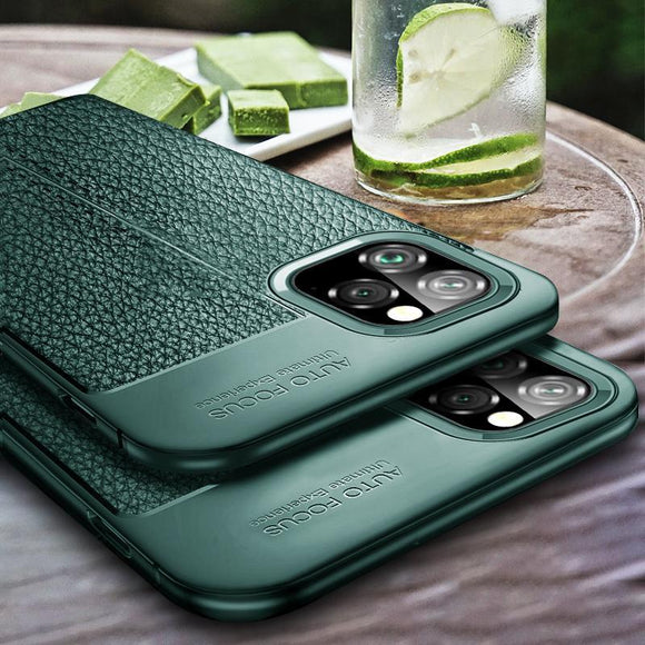 Luxury Silicon Bumper Leather Phone Case Back Cover for iPhone 11 Pro Max/11 Pro/11/XS Max/XR/XS/X/8 Plus/8/7 Plus/7 - halloladies
