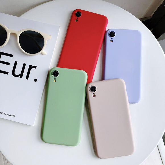 Simple Candy Color Matte Phone Case Back Cover - OPPO R17 Pro/R17/R15 Dream Mirror/R15/A7/A5/A3 - halloladies