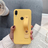 Cute Candy Color Silicone Hand Band Phone Case Back Cover for Huawei P30/P20/Mate 20 Pro/Lite - halloladies