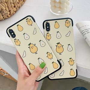 Cartoon Fruit Pattern Frameless Corner Protection Matte Soft TPU Phone Case Back Cover for iPhone XS Max/XR/XS/X/8 Plus/8/7 Plus/7/6s Plus/6s/6 Plus/6 - halloladies