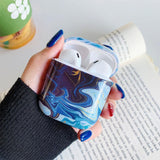 Retro Oil Painting Marble Wireless Bluetooth Earphone Cases for Airpods - halloladies