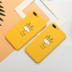 Cute Cartoon Giraffe Phone Case Back Cover for iPhone XS Max/XR/XS/X/8 Plus/8/7 Plus/7/6s Plus/6s/6 Plus/6 - halloladies