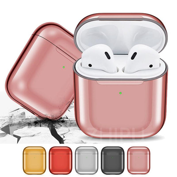 Airpods TPU Wireless Bluetooth Earphone Cases - Luxury Plating - halloladies