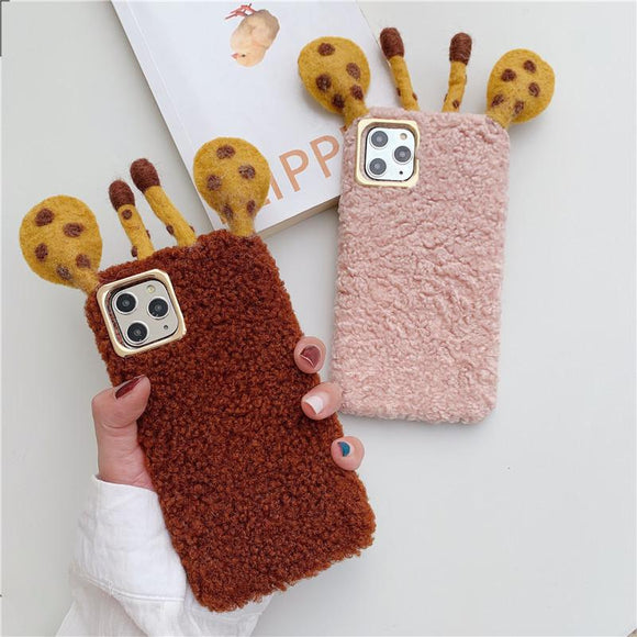 3D Cute Deer Horn Plush Solid Color Soft Phone Case Back Cover - Huawei Mate 30 Pro/Mate 30/P30 Lite/P30 Pro/P30/P20 Lite/P20 Pro/P20/Mate 20 Pro/Mate 20x/Mate 20 - halloladies