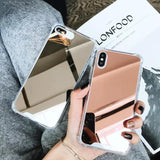 Luxury Plating Bling Soft Mirror Phone Case Back Cover for Samsung Galaxy S20 Ultra/S20 Plus/S20/S10E/S10 Plus/S10/S9 Plus/S9/S8 Plus/S8/Note9/Note8 - halloladies