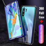 Luxury Full Body Protective Magnetic Tempered Glass Phone Case Back Cover - Huawei P30 Lite/P30 Pro/P30/P20 Lite/P20 Pro/P20/Mate 20 Pro/Mate 20x/Mate 20 - halloladies