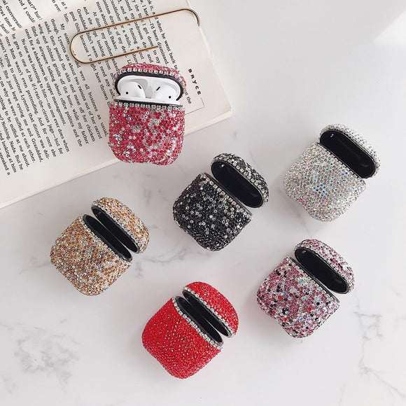 3D Bling Colorful Diamond Airpods Case Wireless Bluetooth Earphone Cases for Airpods - halloladies