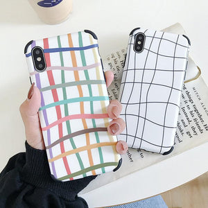 Abstract Curve Line Soft TPU Phone Case Back Cover for iPhone XS Max/XR/XS/X/8 Plus/8/7 Plus/7/6s Plus/6s/6 Plus/6 - halloladies