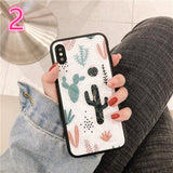 Cactus Print Soft Shell Phone Case Back Cover - iPhone XS Max/XR/XS/X/8 Plus/8/7 Plus/7/6s Plus/6s/6 Plus/6 - halloladies