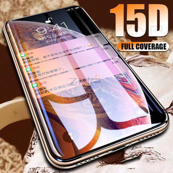 15D Curved Edge Tempered Glass Screen Protector - iPhone XS Max/XR/XS/X/8 Plus/8/7 Plus/7/6s Plus/6s/6 Plus/6 - halloladies