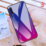 Fashion Gradient Tempered Glass Phone Case Back Cover for Samsung A70/A80 - halloladies