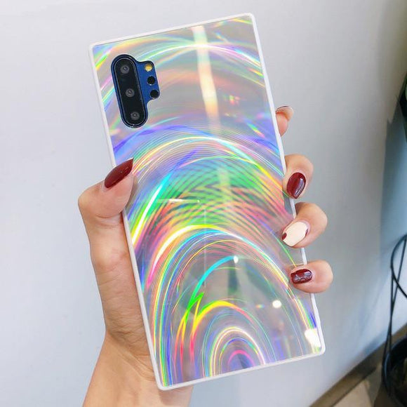 3D Laser Rainbow Glitter Phone Case Back Cover - Samsung Galaxy S10E/S10 Plus/S10/S9 Plus/S9/S8 Plus/S8/Note 8/Note 9 - halloladies