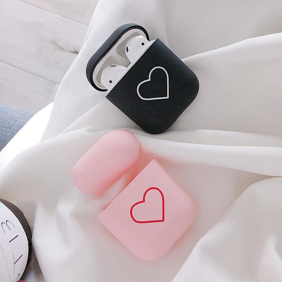 Cute Love Heart Airpods Case Wireless Bluetooth Earphone Cases for Airpods - halloladies