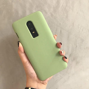 Candy Color Soft Silicone Phone Case Back Cover - OnePlus 7 Pro/7/6T/6 - halloladies