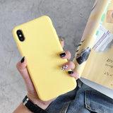 Candy Color Full Protection Liquid Silicone Phone Case Back Cover for iPhone XS Max/XR/XS/X/8 Plus/8/7 Plus/7/6s Plus/6s/6 Plus/6 - halloladies