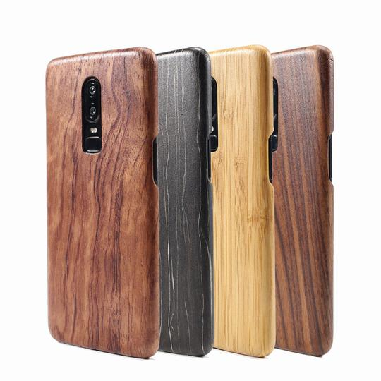 Walnut Enony Wood Rosewood Mahogany Phone Case Back Cover for OnePlus 7 Pro/7/6T/6 - halloladies