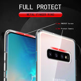 Simple Car Magnetic Ring Kickstand Soft TPU Samsung Case Back Cover for Samsung Galaxy S20 Ultra/S20 Plus/S20/S10E/S10 Plus/S10/S9 Plus/S9/S8 Plus/S8/Note9/Note8 - halloladies
