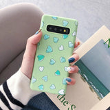 Cartoon Love Heart Soft Phone Case Back Cover - Samsung Galaxy S10E/S10 Plus/S10/S9 Plus/S9/S8 Plus/S8/Note9/Note8 - halloladies