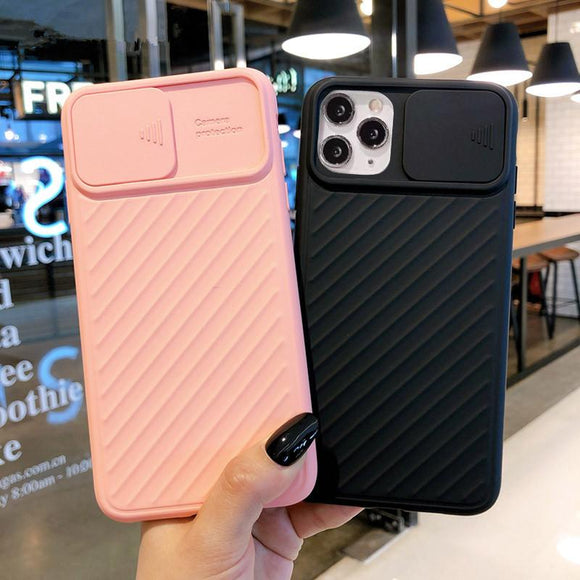 Camera Protection Shockproof Solid Color Soft Phone Case Back Cover - iPhone 12/12pro/12pro max/12mini/11/11 Pro/11 Pro Max/XS Max/XR/XS/X/8 Plus/8/7 Plus/7 - halloladies