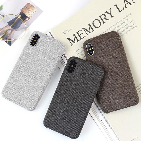 Fabric Cloth Phone Case Back Cover - iPhone XS Max/XR/XS/X/8 Plus/8/7 Plus/7/6s Plus/6s/6 Plus/6 - halloladies