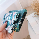 Retro Flower Luminous Phone Case Back Cover - Samsung Galaxy S20 Ultra/S20 Plus/S20/S10E/S10 Plus/S10/S9 Plus/S9/S8 Plus/S8/Note 8/Note 9 - halloladies