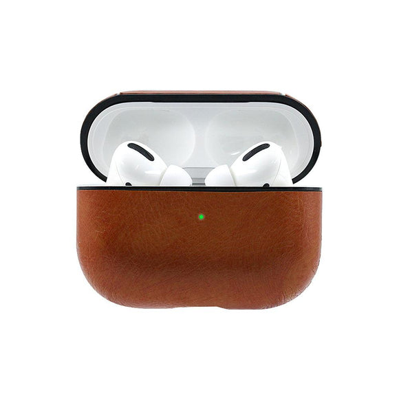 Solid Color Leather Key Chain Wireless Bluetooth Earphone Cases for Airpods Pro - halloladies