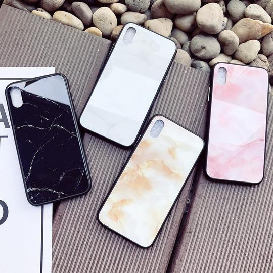Marble Tempered Glass Phone Case Back Cover for iPhone XS Max/XR/XS/X/8 Plus/8/7 Plus/7/6s Plus/6s/6 Plus/6 - halloladies