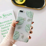 Banana Leaf Pineapple Ultra-thin Soft Clear Phone Case Back Cover for iPhone XS Max/XR/XS/X/8 Plus/8/7 Plus/7/6s Plus/6s/6 Plus/6 - halloladies