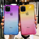 Gradient Color Shockproof Edge Soft TPU Phone Case Back Cover - iPhone 11 Pro Max/11 Pro/11/XS Max/XR/XS/X/8 Plus/8/7 Plus/7 - halloladies