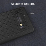 Solid Color Weave Grid Phone Case Back Cover for Samsung A80/A70 - halloladies