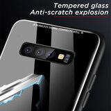 Luxury Plating Edge Tempered Glass Phone Case Back Cover - Samsung Galaxy S10E/S10 Plus/S10/S9 Plus/S9/S8 Plus/S8, Samsung Note 9/Note 8 - halloladies