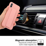Candy Color Magnetic Bracket Phone Case Back Cover for iPhone 11/11 Pro/11 Pro Max/XS Max/XR/XS/X/8 Plus/8/7 Plus/7 - halloladies
