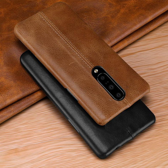 Luxury Stitching Leather Phone Case Back Cover - OnePlus 7 Pro/7/6T/6 - halloladies