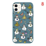 Candy Color Cartoon Christmas Phone Case Back Cover - iPhone 11/11 Pro/11 Pro Max/XS Max/XR/XS/X/8 Plus/8/7 Plus/7 - halloladies
