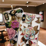 Simple Flower Soft Phone Case Back Cover - iPhone 11/11 Pro/11 Pro Max/XS Max/XR/XS/X/8 Plus/8/7 Plus/7 - halloladies