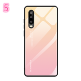 Gradient Tempered Glass Soft TPU Edge Phone Case Back Cover for Huawei P30/P20/Mate 20 Pro/Lite - halloladies
