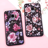 3D Relief Flower Silicone Phone Case Back Cover - Samsung Galaxy S9 Plus/S9/S8 Plus/S8, Samsung Note 9/Note 8 - halloladies