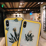 Gold Pineapple Tempered Glass Phone Case Back Cover - iPhone XS Max/XR/XS/X/8 Plus/8/7 Plus/7/6s Plus/6s/6 Plus/6 - halloladies
