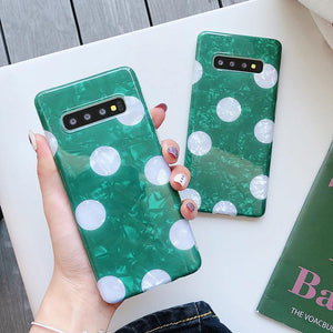 Dream Shell Dots Samsung Case Back Cover for Samsung Galaxy S10 Plus/S10/S9 Plus/S9/S8 Plus/S8/Note9/Note8 - halloladies