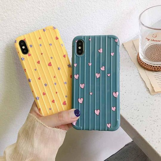 Solid Color Love Pattern Soft TPU Phone Case Back Cover for iPhone XS Max/XR/XS/X/8 Plus/8/7 Plus/7/6s Plus/6s/6 Plus/6 - halloladies