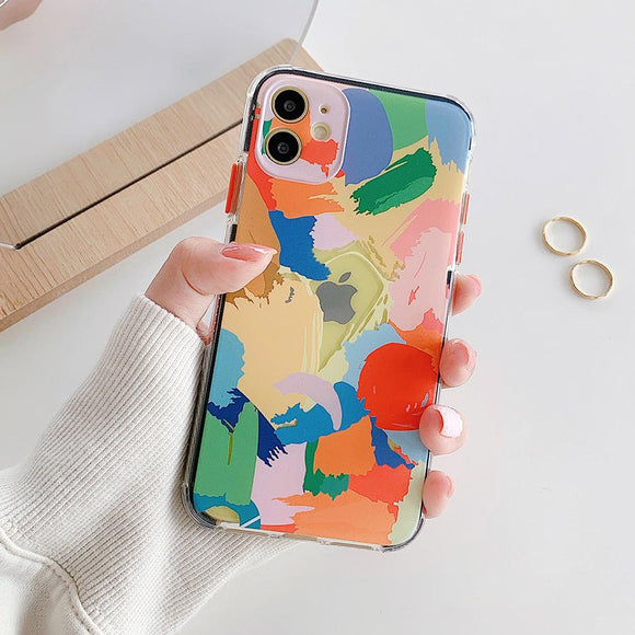 Abstract Art Graffiti Soft Phone Case Back Cover for iPhone 12 Pro Max/12 Pro/12/12 Mini/SE/11 Pro Max/11 Pro/11/XS Max/XR/XS/X/8 Plus/8 - halloladies
