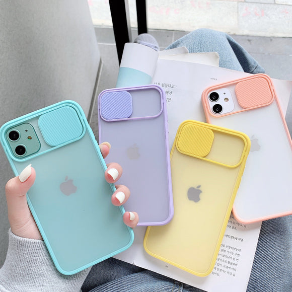 Candy Color Camera Lens Protection Phone Case for iPhone 12 Pro Max/12 Pro/12/12 Mini/SE/11 Pro Max/11 Pro/11/XS Max/XR/XS/X/8 Plus/8 - halloladies