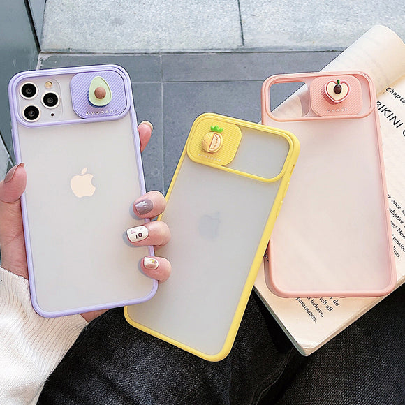 Candy Color Matte Fruit Avocado Peach Pineapple Soft Silicone Phone Case Back Cover for iPhone 12 Pro Max/12 Pro/12/12 Mini/SE/11 Pro Max/11 Pro/11/XS Max/XR/XS/X/8 Plus/8 - halloladies