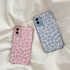 Cartoon Relief Leopard Print Soft Phone Back Cover for iPhone 12 Pro Max/12 Pro/12/12 Mini/11 Pro Max/11 Pro/11/XS Max/XR/XS/X/8 Plus/8/7 Plus/7 - halloladies
