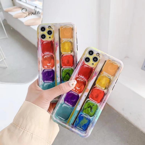 Drawing Box Soft Cute Phone Case for iPhone 12 Pro Max/12 Pro/12/12 Mini/SE/11 Pro Max/11 Pro/11/XS Max/XR/XS/X/8 Plus/8 - halloladies