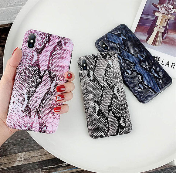 Fashion Snake Crocodile Skin Pattern Soft IMD Phone Case Back Cover - iPhone XS Max/XR/XS/X/8 Plus/8/7 Plus/7/6s Plus/6s/6 Plus/6 - halloladies